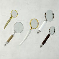 3D model decorative magnifying glasses zara