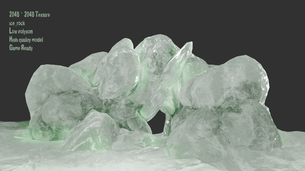 ice cave 3D model