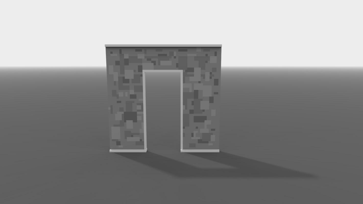 3D curved door pixel