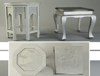 ethnic coffee tables zara 3D