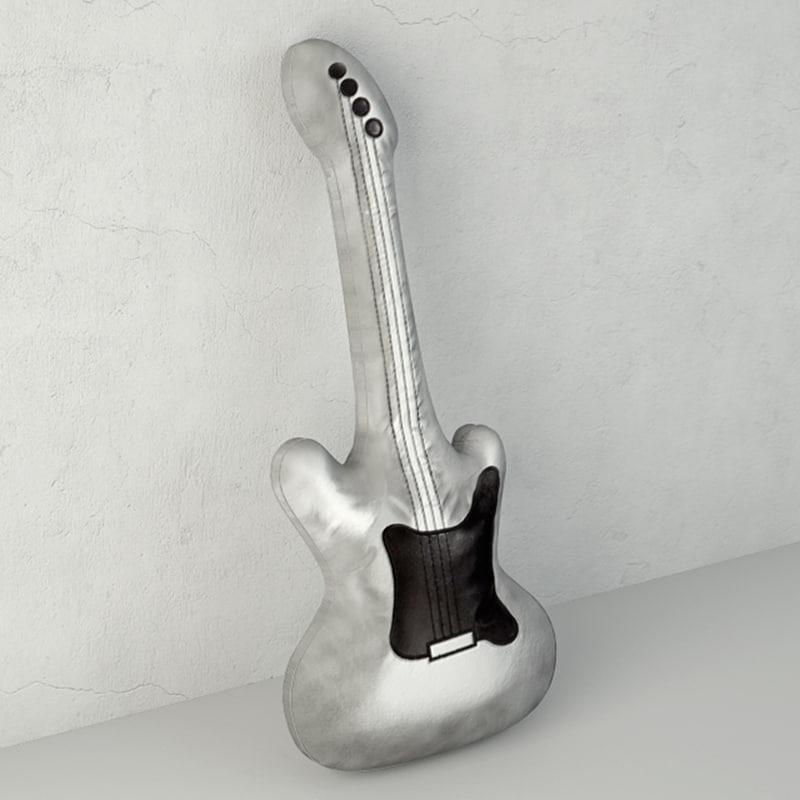 3D guitar soft toy h