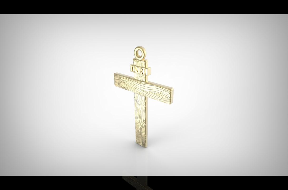 cross inri 3D model