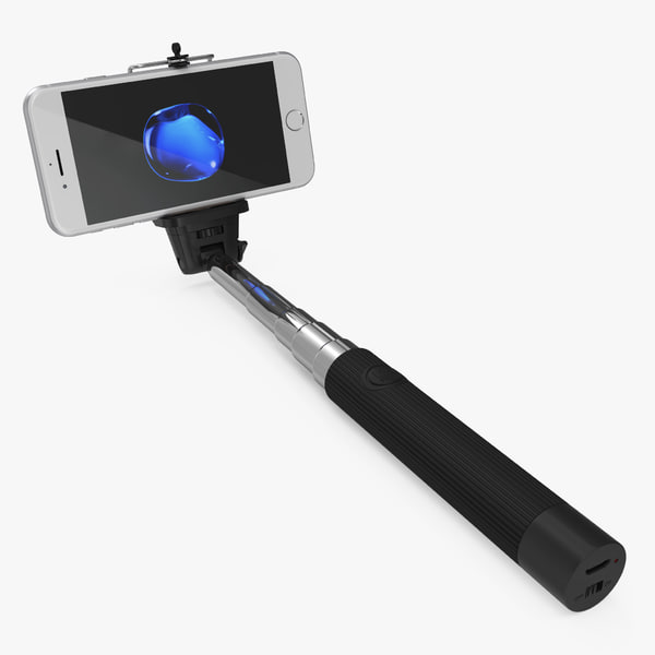 selfie stick monopod iphone 3D model