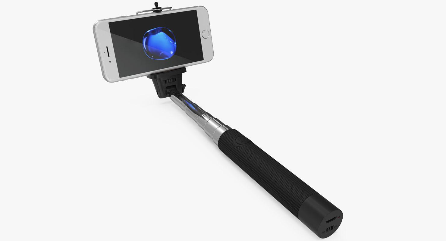 selfie stick monopod iphone 3D model