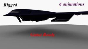 3D model stealth bomber