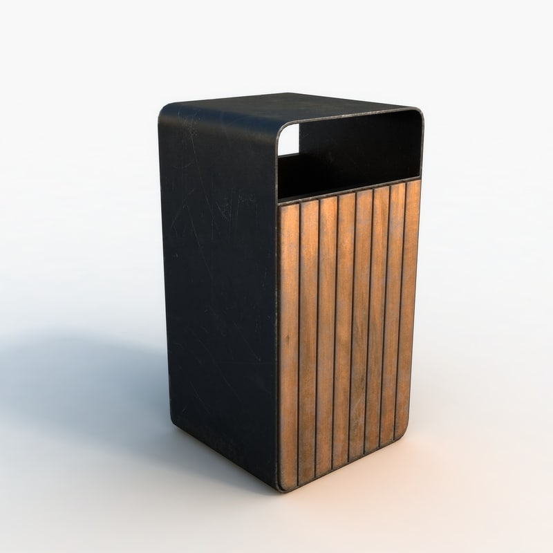 3D ready trash bin