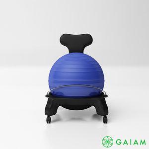 3D gaiam classic balance ball chair