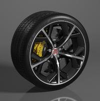 3D 20 wheel f-type r