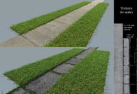 Tileable Photo-Realistic Sidewalks - Pack of 2