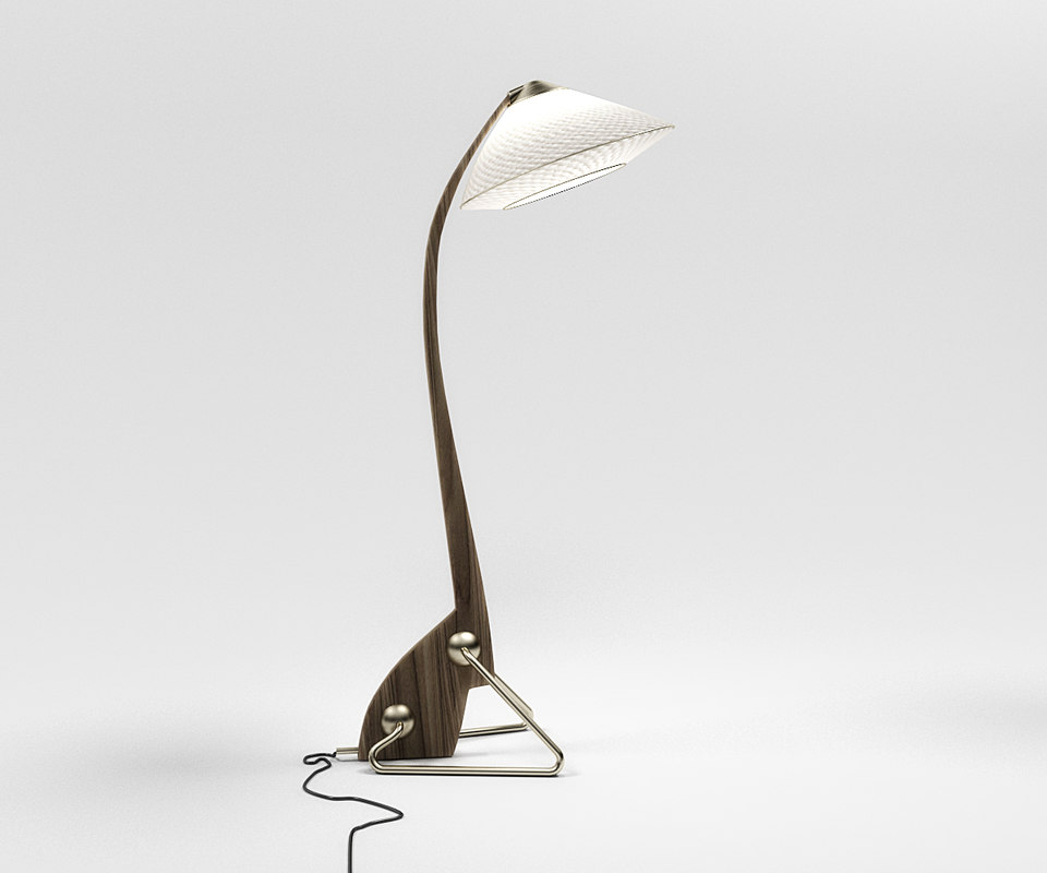 3D intru floor lamp