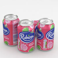 3D model beverage rubicon guava
