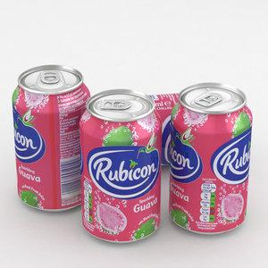 3D model beverage rubicon guava