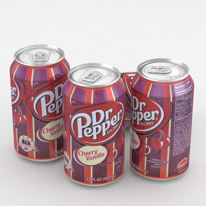 beverage dr pepper 3D model