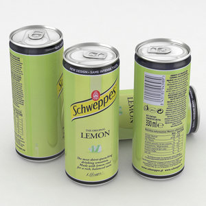 beverage schweppes lemon 3D