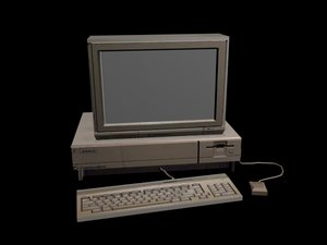 3D commodore amiga 1000 model