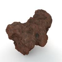 red volcanic rock model