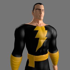 3D black adam model