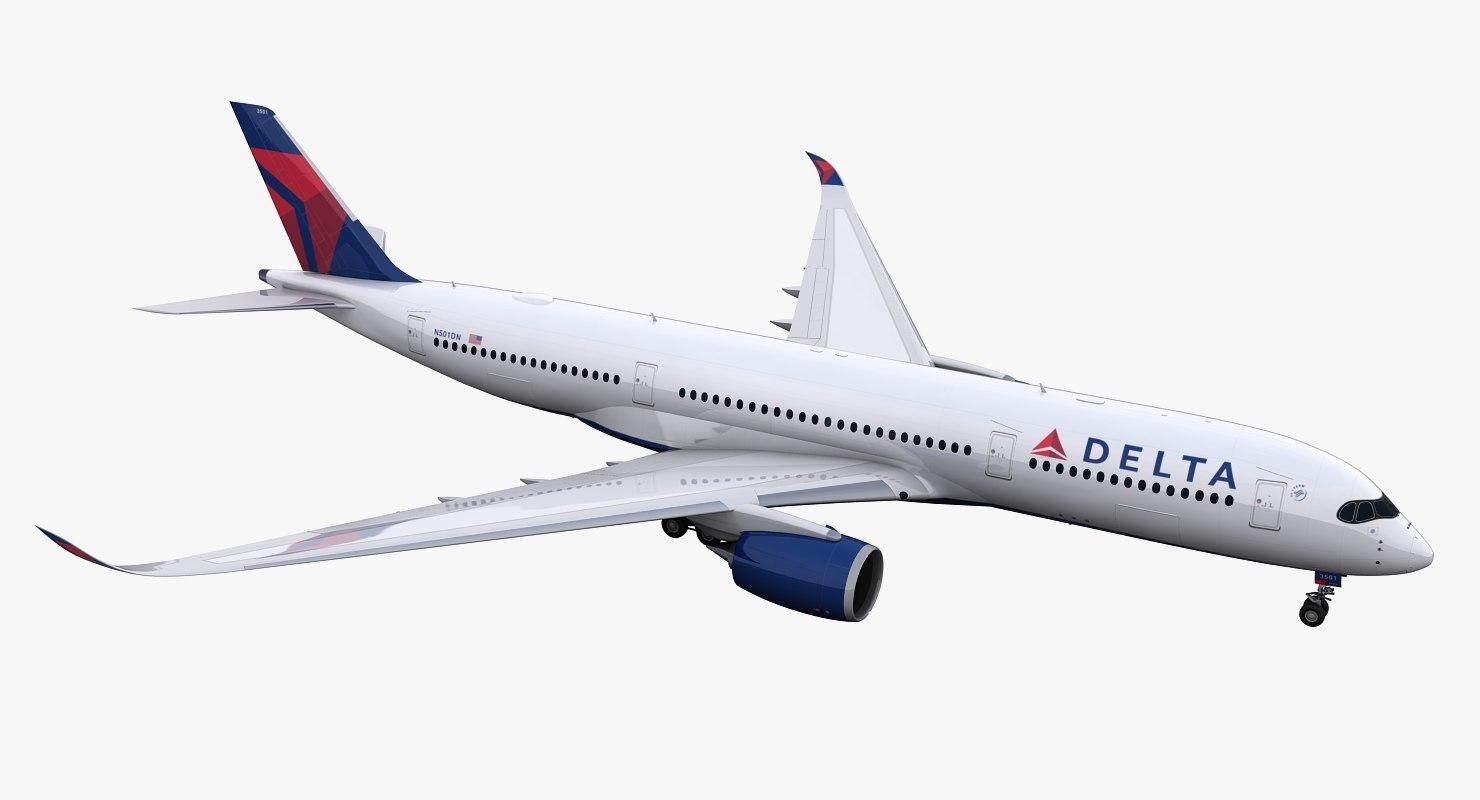 a350-900 delta 3D