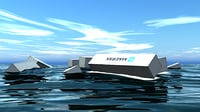 floating cargo containers 3D model