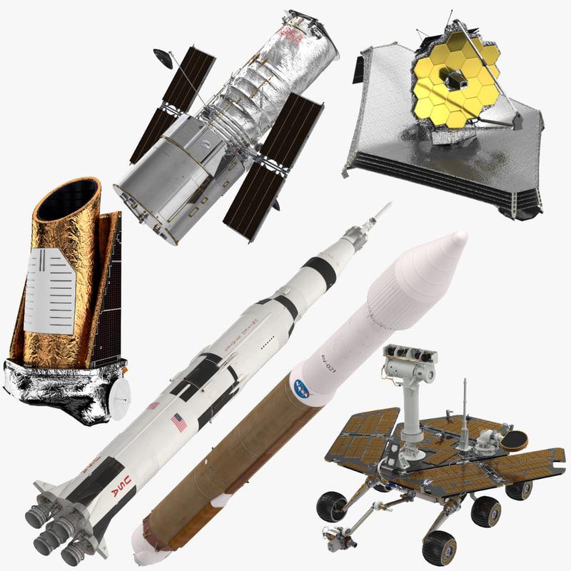 3D model space equipment