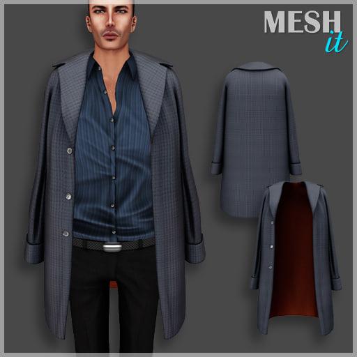 coat shoulders male 3D