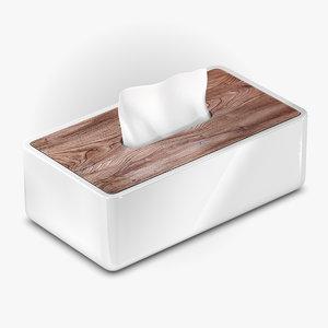 3D porcelain tissue dispenser model