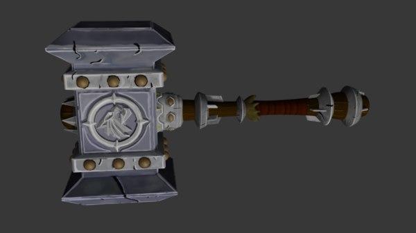 3D model doomhammer