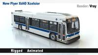 3D new flyer xd40 xcelsior