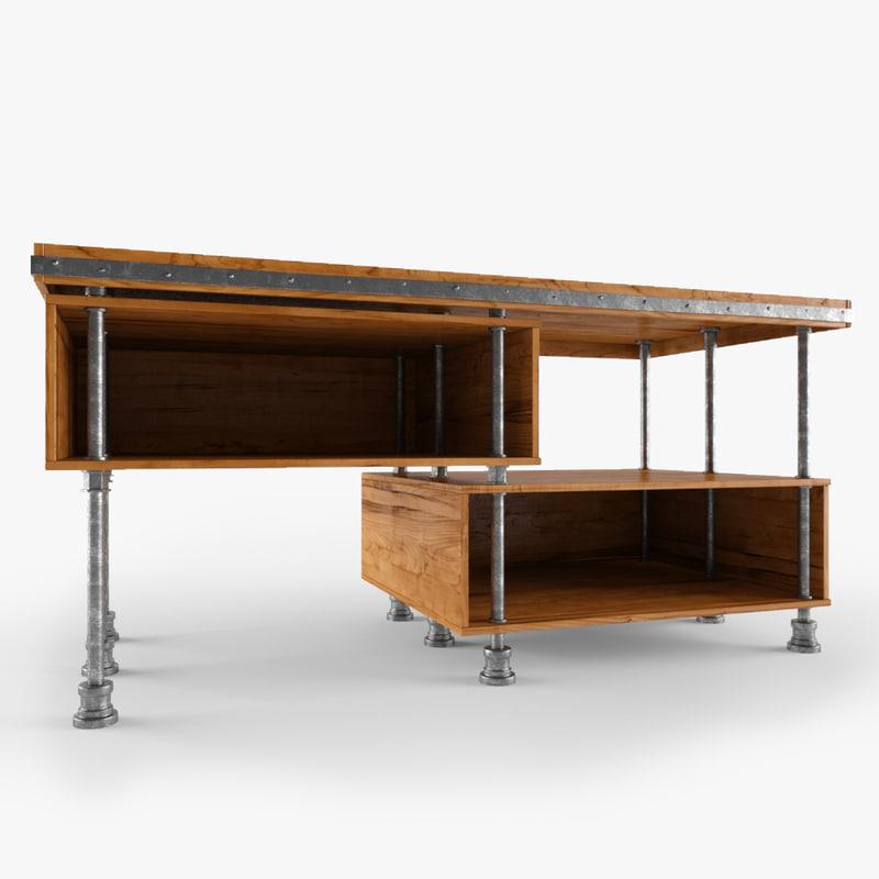 table desk 3D model