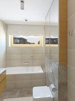 Light brown bathroom