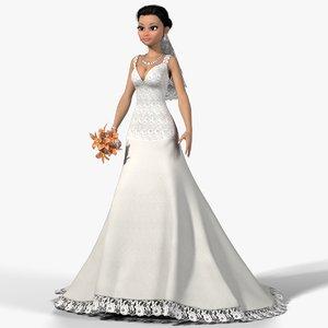 3D realistic bride