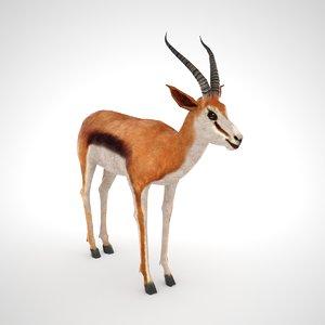 3D model springbok
