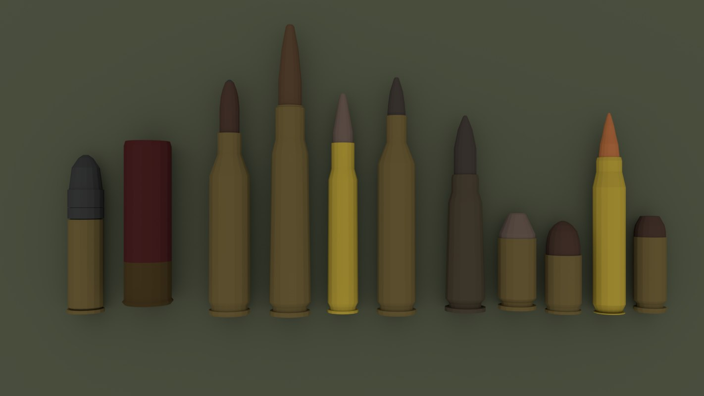 low-poly ammo 3D model