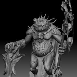 toad warrior 3D model