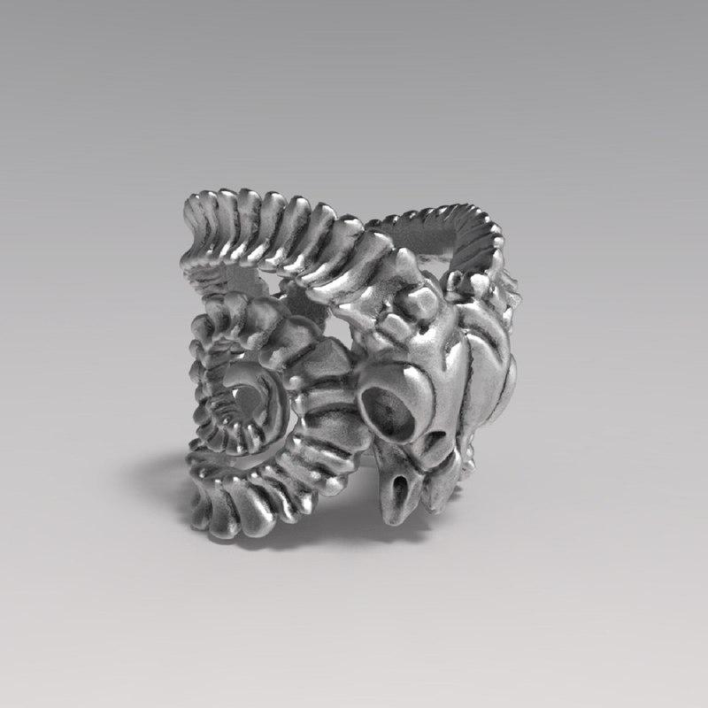 3D model ring goat