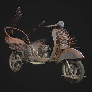 3D mad engine vespa model