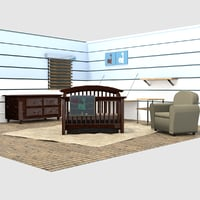 crib set 3D model