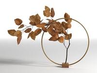 3D natura morta circular support