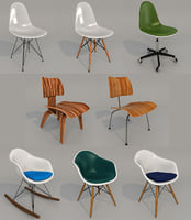 3D vitra eames chair model