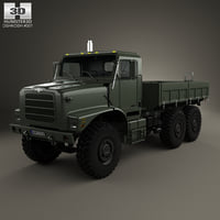 oshkosh terramax flatbed 3D model