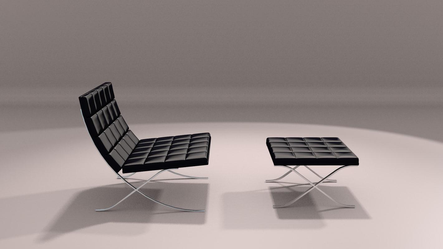 chaise lounge chair modern 3D model
