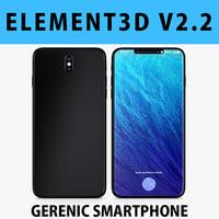E3D - Generic Smartphone Realistic 3D model