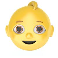 baby emoji face 3D model