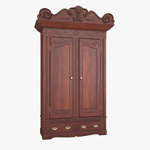 3D antique wardrobe model