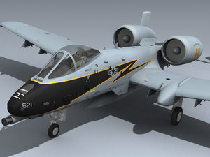 usaf a-10a connecticut 3D