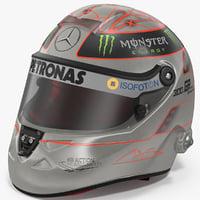 3D platinum helmet michael schumacher