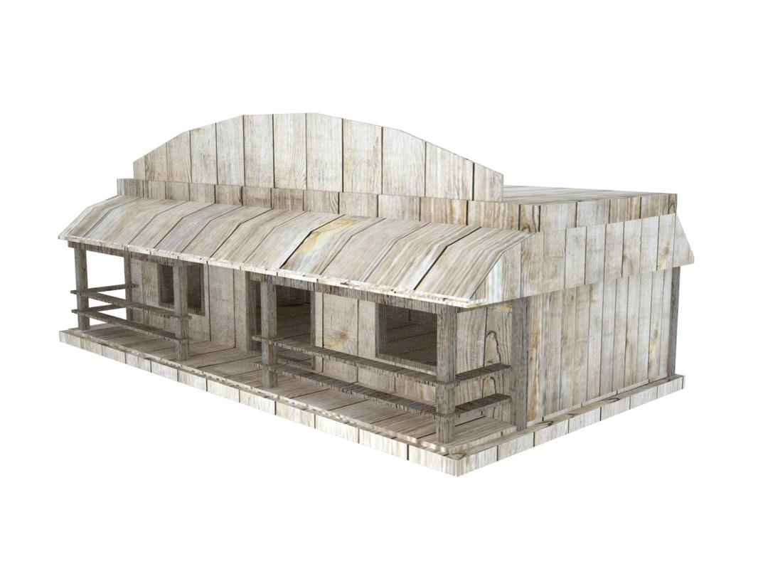 wood saloon model
