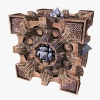 3D model cube artifact design