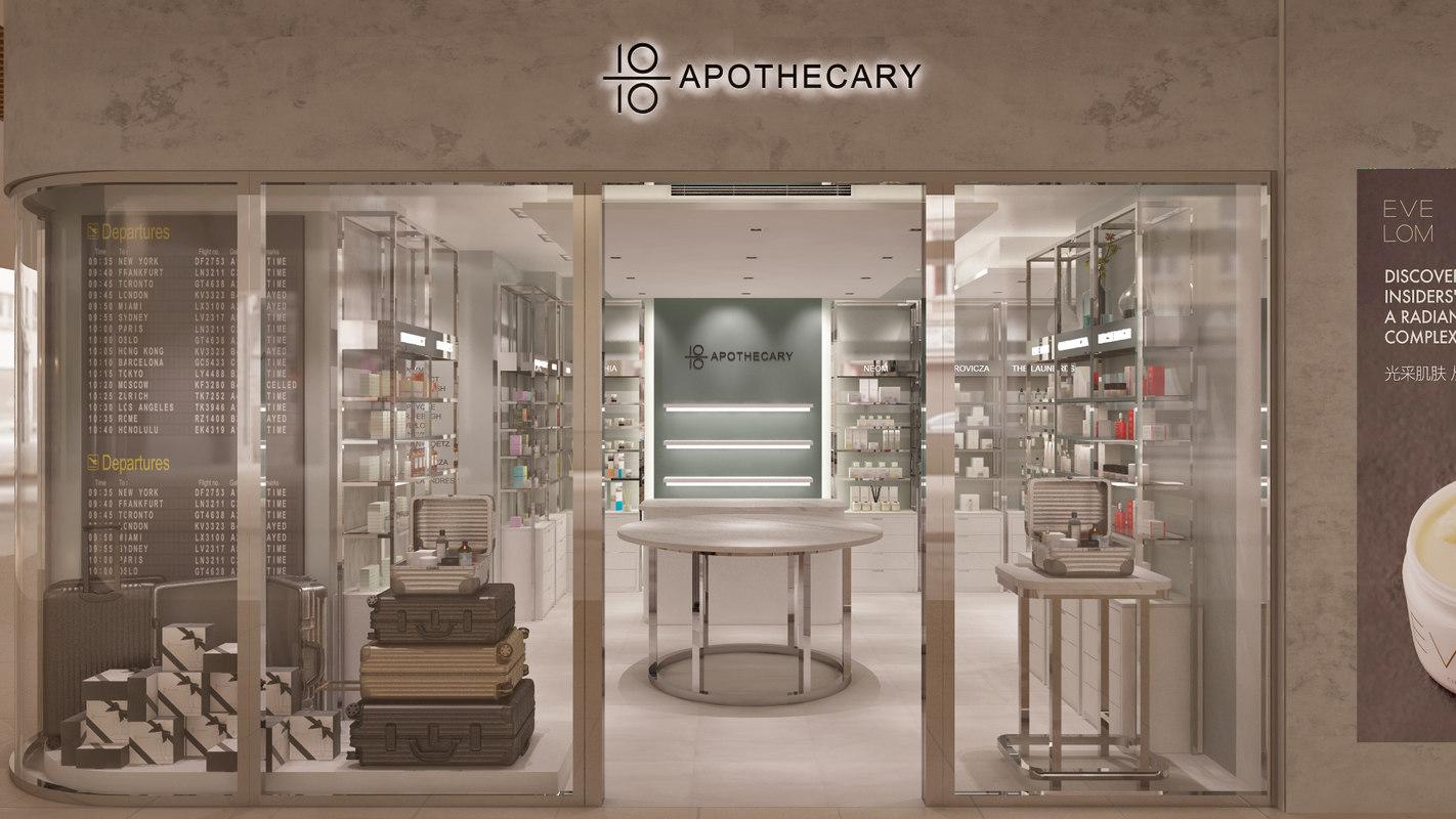 3D pharmacy store interior scene