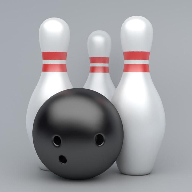 bowling emojis 3D model